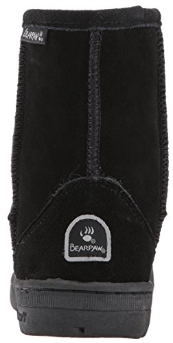 BEARPAW Kids Meadow Toddler Boot, Black II, 7 M US Toddler