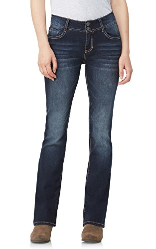 WallFlower Junior's Instastretch Luscious Curvy Bootcut Jeans, Betsy Pure, 15