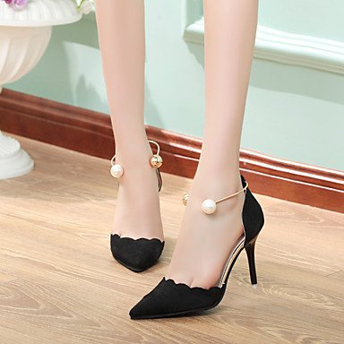 LvYuan-GGX Damen Pumps High Heels Pumps Damen PU Sommer Normal Pumps Flacher Absatz Stöckelabsatz Schwarz Beige Rot Rosa 7,5-9,5 cm, Beige, us4-4.5 / eu34 / uk2-2.5 / cn33 - 8dae8d