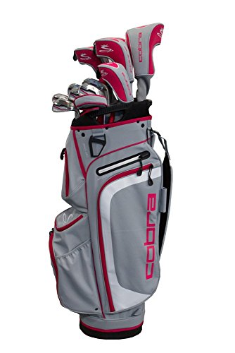 Cobra 2018 XL Complete Set Silver-Rasberry (Women's, Right Hand, Graphite, Ladies Flex)