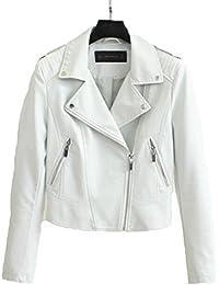 Amazon.com: White - Leather & Faux Leather / Coats, Jackets ...