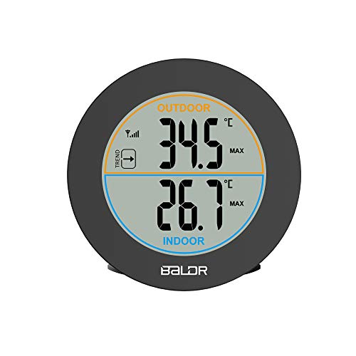 (BALDR Wireless Indoor/Outdoor Thermometer Table Wall Temperature Monitor Meter with Max/Min Records, Trend)