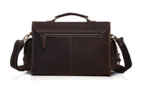 Sacs photo pour sac photo Sacs en cuir véritable à bandoulière brun foncé