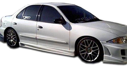 Duraflex ED-LAX-296 Bomber Side Skirts Rocker Panels - 2 Piece Body Kit - Compatible For Chevrolet Cavalier 1995-2005