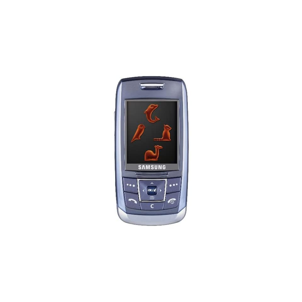 Samsung SGH E250 Unlocked Cell Phone with Camera, Media Player, Bluetooth Music, MicroSD Slot  International Version with Warranty (blue)