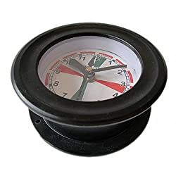Brass Blessing Ship's Clock - Marine Radio Room Clock - Aluminium - Boat/Maritime/Nautical (5011A)