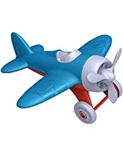 Green Toys Airplane - BPA, Phthalates Free, Blue Air Transport Toy for Introducing Aeronautical Knowledge, Improving Grasping Power. Toy Vehicles