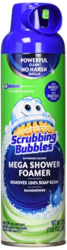 Bathroom Cleaner (Scrubbing Bubbles Mega Shower Foamer with Ultra Cling Bulk Bathroom Cleaner 20 Ounce (Pack of 3))