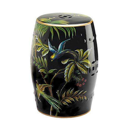 Accent Plus 10018685 Tropical Birds Decorative Stool Multicolor