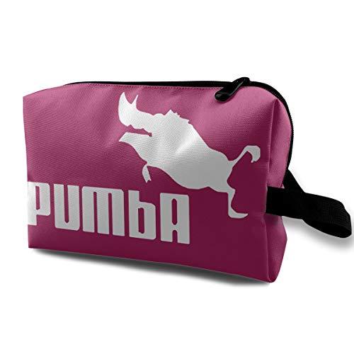 Qbao Pumba Pig Unisex Travel Cosmetic Bag Portable Makeup Case & Organizer Toiletry -