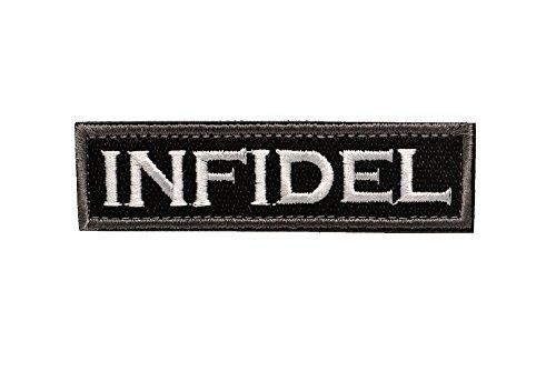 INFIDEL 不信心者 異端者 異教徒 ミリタリー ワッペン パッチ サバゲー ベルクロ付き 黒の商品画像