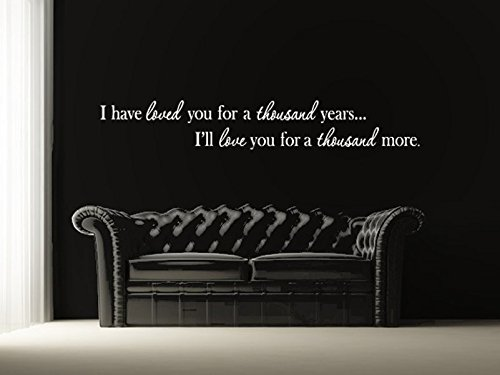fbe4fc96ad Image Unavailable. Image not available for. Color: Bedroom Wall Decor - I  have loved you a thousand years wall decal ...