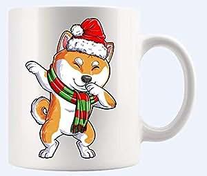 Amazon.com: Funny Dabbing Shiba Inu Santa Mug - Cute Dog