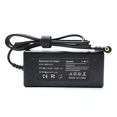 Ursulan Replacement Laptop Power Supply Compaq Charger for HP Compaq Business Notebook NX9000 NX9005 NX9010 ZE4328 N1050V 90W AC Adapter - 19V 4.74A ()