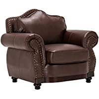 Homelegance 9616BRW-1 Sofa Chair, Dark Brown Bonded Leather