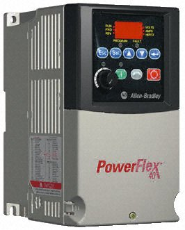 Allen Bradley POWERFLEX 40 CAT: 22B-D4P0N104, 1.5KW / 2HP, 342-528V, 48-63HZ by Allen-Bradley