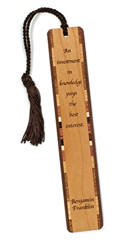 benjamin-franklin-knowledge-quote-wooden-bookmark-with-tassel