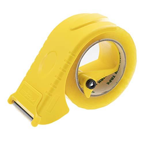 g Tape Gun Dispenser, Width-Adjustable Box Sealer, Lightweight Ergonomic Industrial Heavy Duty Tape Cutter for Carton, Packaging and Box Sealing, Yellow ()