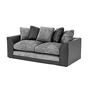 Abakus Direct Byron 3 Seater Black and Charcoal