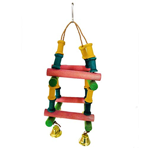 dzsntsmgs Plaything Small Medium Parrot Wooden Log Climbing Ladder Bird Pet Bite Toy Cage Decoration - Multicolor Climbing Toy, Ladder Design, Bird Cage Decor - Birdcage Conure