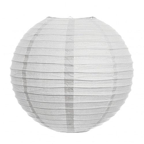 Koyal 16-Inch Paper Lantern, White, Set of 12 by Koyal