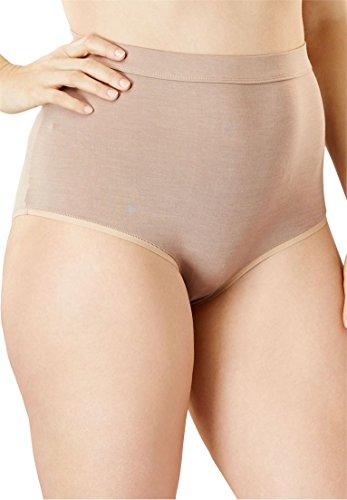 Comfort Choice Women's Plus Size 3-Pack Modal Full-Cut Brief