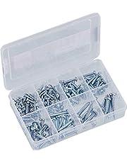 Connex Assortimentsdoos - voorgesorteerde onderdelen in praktische kunststof doos - geschikt voor huis, werkplaats enz. / assortimentsbox/klein ijzerassortiment