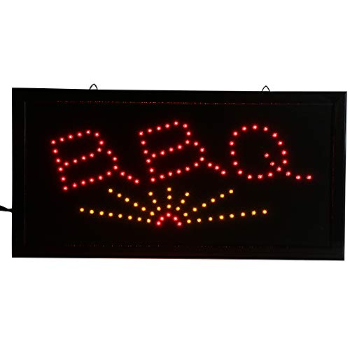 (CHENXI LED BBQ Shop Open Sign Custom Sign Graphics semi-Outdoor Ultra Bright Flashing 1019 Inch BBQ Store Signboard (48 X 25 cm, A))