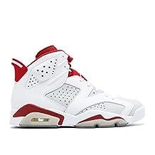 2017 Nike Air Jordan 6 Retro Alternate White Gym Red-Pure Platinum Mens Basketball Shoes