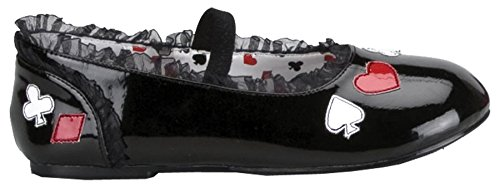Alice in Wonderland Flat Shoes (Black) Child Size X-Large - Youth Alice In Wonderland Costume