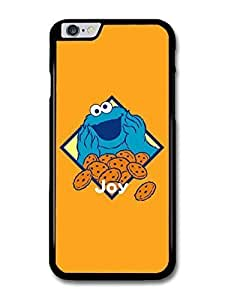 "AMAF ? Accessories Cookie Monster Illustration Muppet Orange Background TV Show case for iPhone 6 Plus (5.5"") hjbrhga1544"