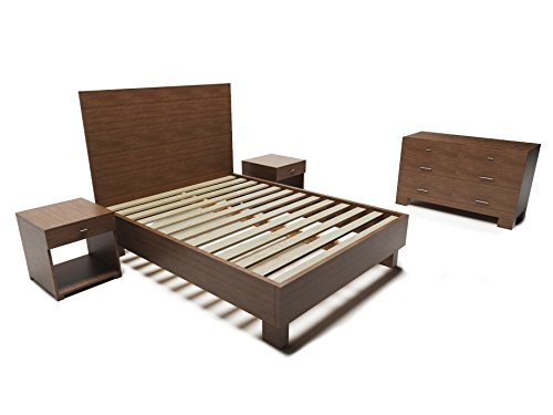 Rustic and Reclaimed Wood Style 5-Piece Bedroom Furniture Set