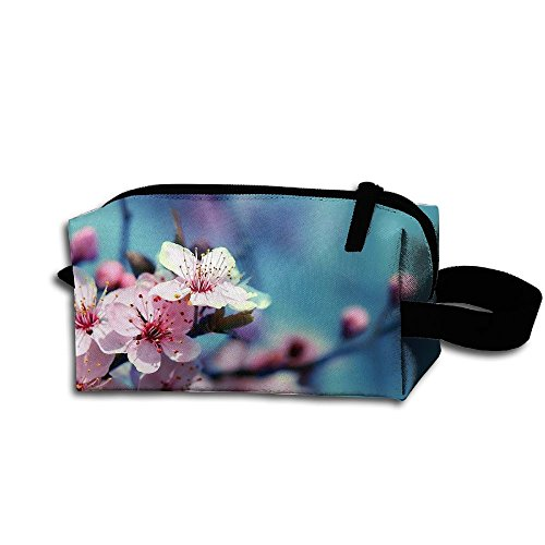 Makeup Cosmetic Bag Cherry Blossom Clip Arts Zip Travel Portable Storage Pouch For Mens -