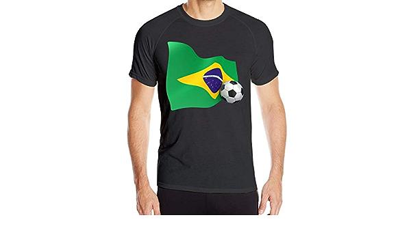 yting Bandera Lisa de Brasil para Hombre con balón de fútbol ...