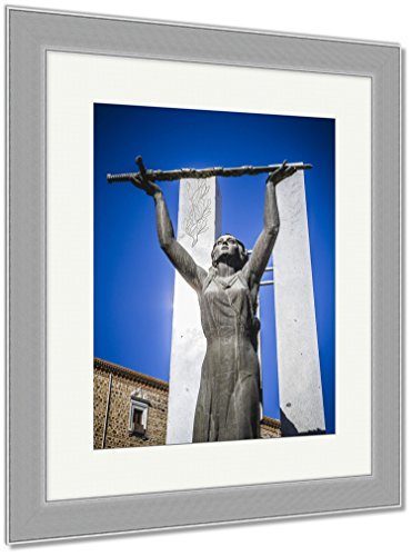 Ashley Framed Prints Toledo Famous City In Spain, Wall Art Home Decoration, Color, 35x30 (frame size), Silver Frame, AG6114304 by Ashley Framed Prints