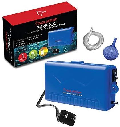 Aquatop BREZA Battery Powered Air Pump w/ AC Power Failure Sensor