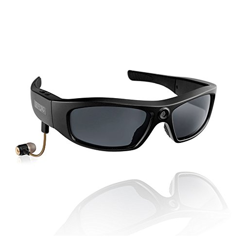 KOLSOL Bluetooth Sunglasses with 720P Camera Video Recorder Camera Glasses Headset for IOS Android Smartphone Polarized Sunglasses UV400,8GB SD Card