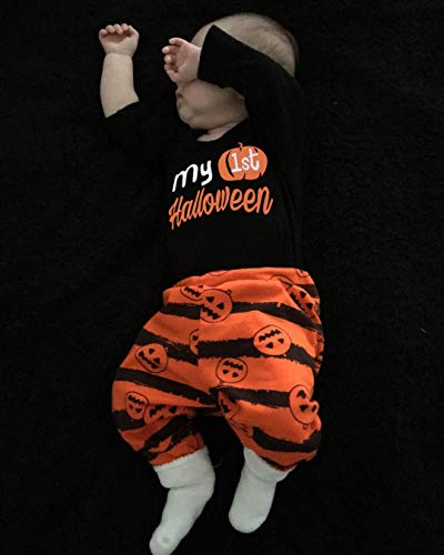 3Pcs My First Halloween Stripe Outfit Set Baby Boys Girls Cute Romper Clothing Set(0-3 M/70) by Oklan (Image #6)