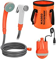 WADEO Portable Handhold Outdoor Shower Detachable USB Rechargeable Batteries Outdoor Shower Head Shower Pump