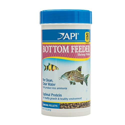 API BOTTOM FEEDER SHRIMP PELLETS Fish Food 7.9-Ounce Container