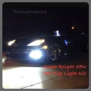 2005-2013 c6 Corvette 55W HID Fog Light Conversion Kit (Crisp White w/ slight blue hue) SUPER BRIGHT