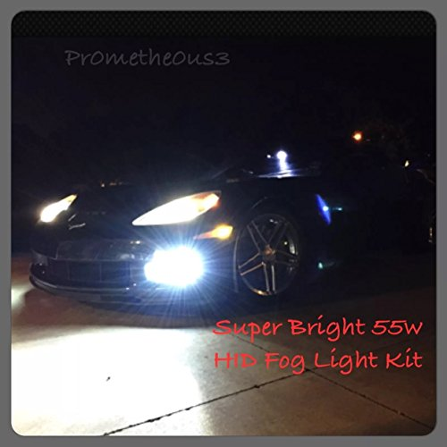 2005-2013 c6 Corvette 55W HID Fog Light Conversion Kit (Crisp White w/ slight blue hue) SUPER BRIGHT
