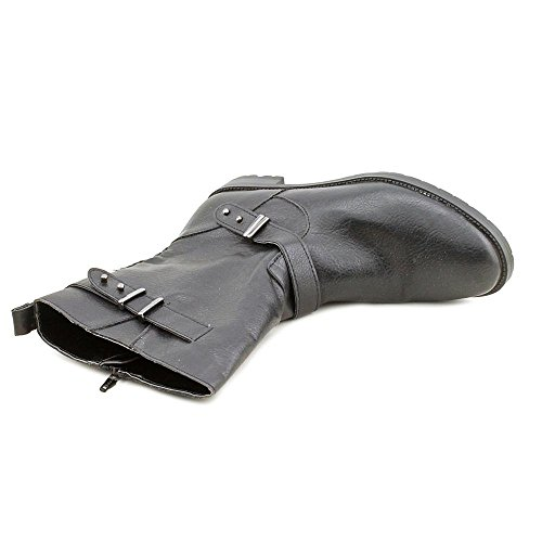 5 7 Leather Calf Size Sascha Womens Black Faux Boots Fashion Mid Alfani wUEtIq0xU