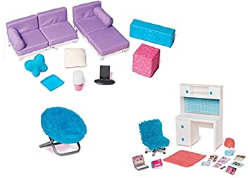 Doll Furniture For 18u0026quot; Doll   Living Room Set, Desk And Chair Set, Part 51