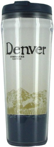 Starbucks Coffee Denver Plastic No Spill Travel Tumbler Mug 12 oz by Starbucks