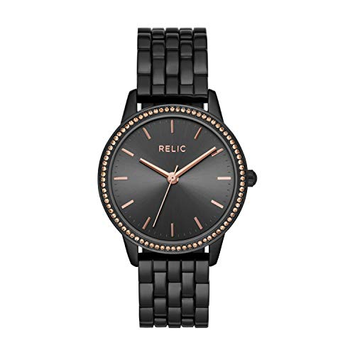 Relic by Fossil Women's Georgia Quartz Watch with Alloy Strap, Black, 16 (Model: ZR34527)