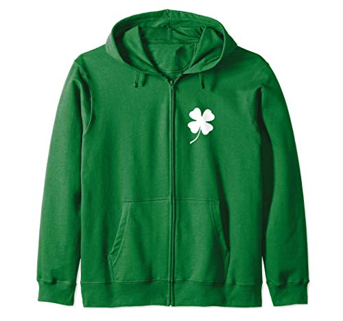 Irish Zip Up Hoodie Men Women - Lucky St Patricks Day Gift Zip Hoodie