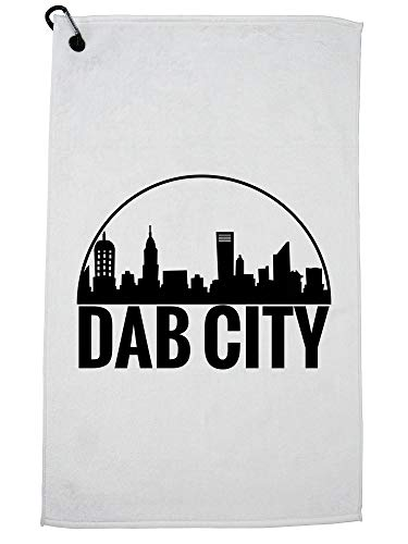 Hollywood Thread Dab City - Dabbing Cityscape Golf Towel with Carabiner -