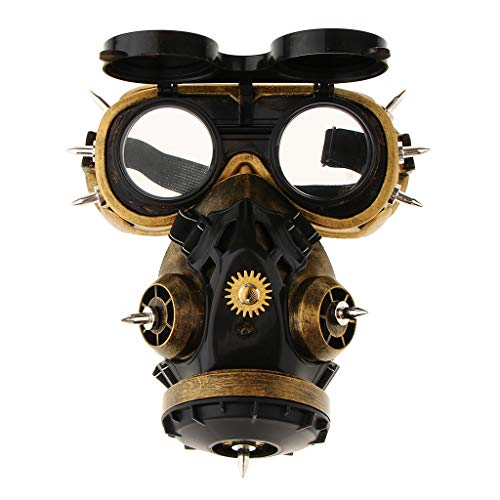 SM SunniMix Adults' Victorian Steampunk Gas Mask Goggles Glasses Set Doctor Plague Fancy Dress Props -