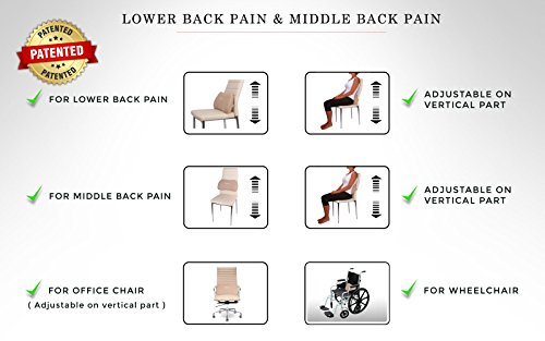 Lumbar Pillow RS1 with Firmer Memory Foam Provide Back Support Pain Relief and it is Extreme Comfort Design Cushion Best for your Lower Support in Car Seat Office Chair Sofa Travel Backrest by Relax Support (Image #5)